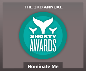 Nominate Chris Favero for a social media award in the Shorty Awards!
