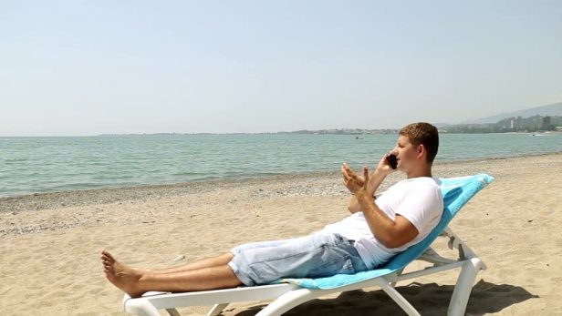 Image result for man relaxing on beach chair