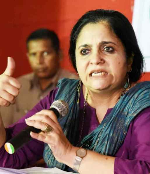 Teesta Setalvad urges people to join CJP to fight against injustices
