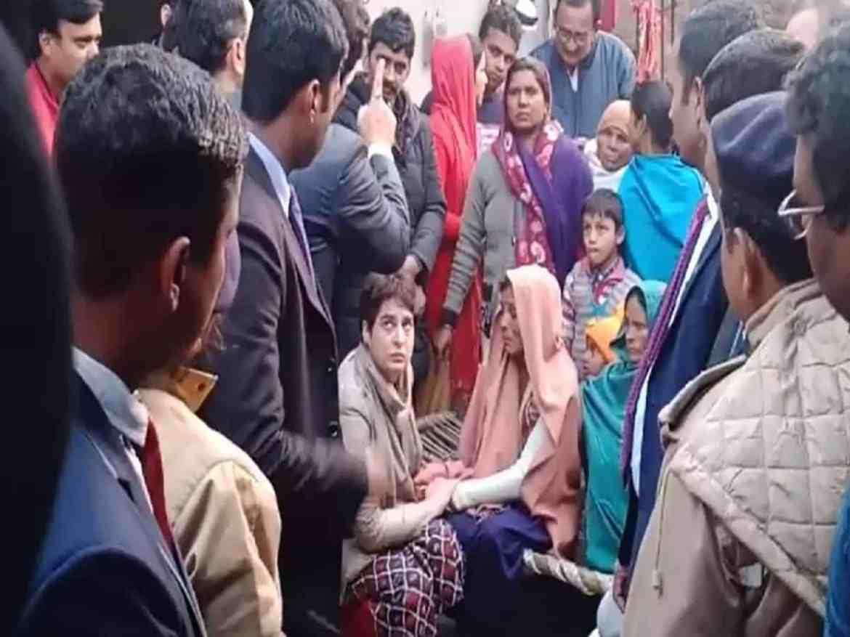 Image result for Priyanka in Muzaffarnagar to meet CAA violence victims