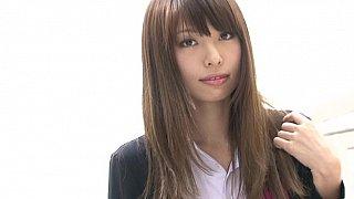 Sweet Japanese schoolgirl posing image