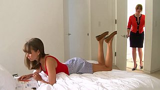 Lesbian step-mom and her cute daughter image