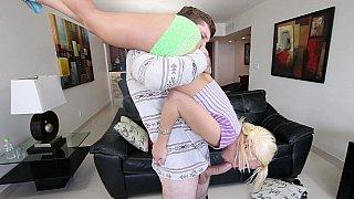 Image: Petite babysitter babe gets destroyed