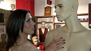 Porn Star fucks at a sex shop image