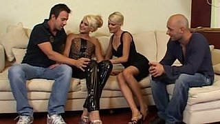 Two hot blonde Europeans and two cocks image