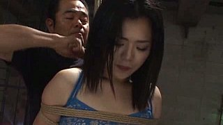 Innocent Asian girls get their butts tied and screwed image