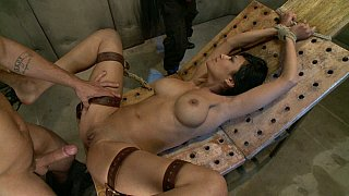 Tied, fucked and received 2 facial cumshots image