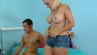 Busty mommy having sex with_her step-son image