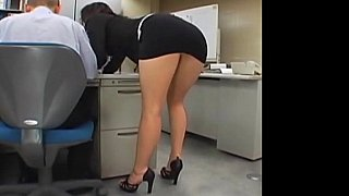 Japanese office girl gets fucked by two image