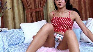Cute russian teen Anna masturbates image