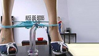 Image: Miss Big Boobs caught masturbating