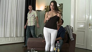 Image: Natural titted Italian babe Valentina Nappi takes two