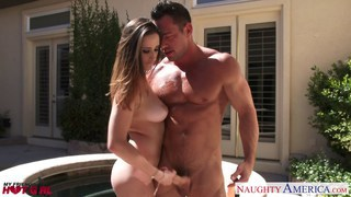Ashley Adams getting some jizz on her_naturals image