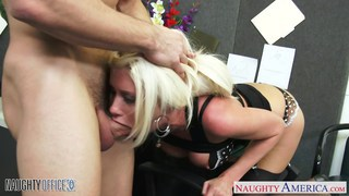 Busty blonde Riley Jenner fucking in_the office image