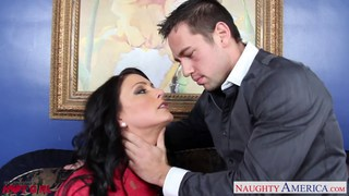 Superb Jessica Jaymes suck and fuck a big schlong image
