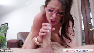 Beauty brunette geek cutie Lola Foxx take cock image