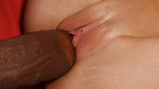 Lovely booty latina babe riding huge black cock with tight pussy image