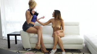 Saucy Latina Josie Jagger shows off her sensuality and sexuality when she is interviewed by Kate... image