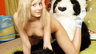 Nude teen girl wants strap on sex with bear image