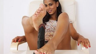 Image: Sexy latina Lexi bare foot sole fetish