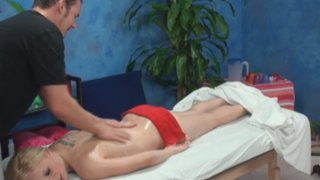Alyssa seduced and fucked by her massage therapist on hidden camera image