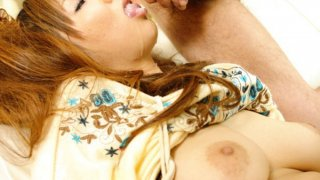 Big titty Japanese babe Hinano has her_pussy punished by fingers image