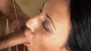 Cock Hungry Marti Spits On Hairy Cock image