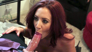 Image: Cock hungry chick Jayden Jaymes slobbered all over the cock