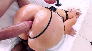 Jenna Ivory enjoys deep anal sex until her asshole gaped wide open and pink image