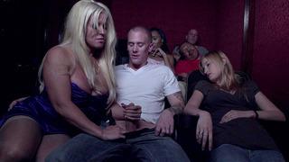 Alura Jenson strokes and sucks Richie's penis in_the cinema image