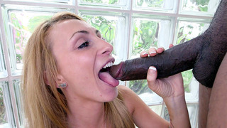 Horny white chick Hollie Shields began working orally_on the BBC image