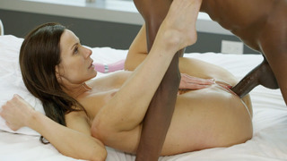 Slender MILF Kendra Lust took huge black shaft image