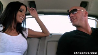 Jessica Jaymes giving head in a car image