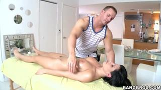 Rebeca Linares enjoying a sensual erotic massage image