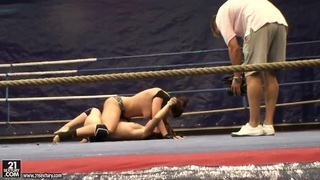Image: Nude fight club with Eliska Cross and Lisa Sparkle.