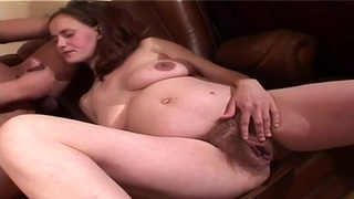 Busty pregnant whore is having some good time being fucked by her husband - pregnant japanese fucked by homeless image
