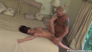 Hotel fuck with big boobed slut Ginger Lea image