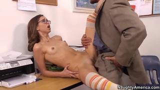 Riley Reid fucks with her teacher Tommy Gunn image
