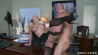 Hot brunette whore_Emily B gets Johnny Sins' dick in the holes image