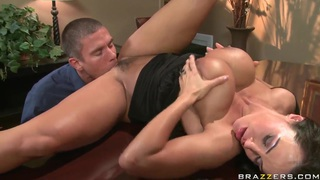 Busty babe_Lisa Ann gets licked by Mick Blue in public image