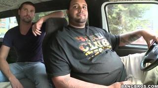 Image: Horny dudes pick up sweet Zenya Lai and fucks her in their van