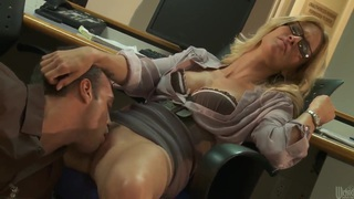 Hot office fuck with blond babe jessica drake image