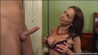 Sexy hot mom Carina Roman in hardcore youngster disgrace! image