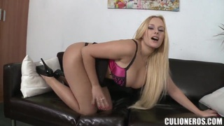 Curvy Angel Wicky demonstrates her goods image
