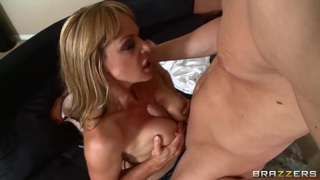 Big Titted Mature Shayla Leveaux Gives A Blowjob And Tit Fuck image