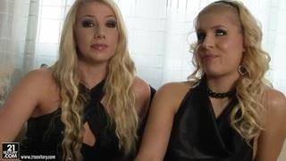 Blonde Brandy Smile and Danielle Maye posing image