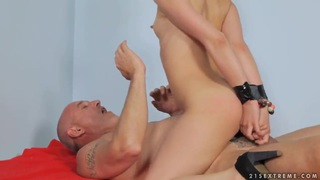 Image: Crazy Jalace getting penetrated in all her young holes