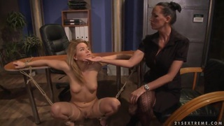 Image: Hardcore BDSM action with nasty lesbian girls named Mandy Bright and Salome