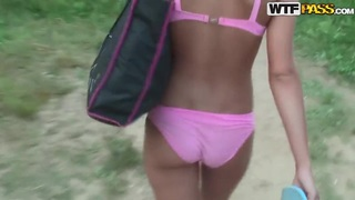 Hot_Jennifer_taking_a_walk_with_her_friend_in_her_underwear_only image