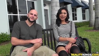 Latina babe Issa Rose is seduced by Jmac image